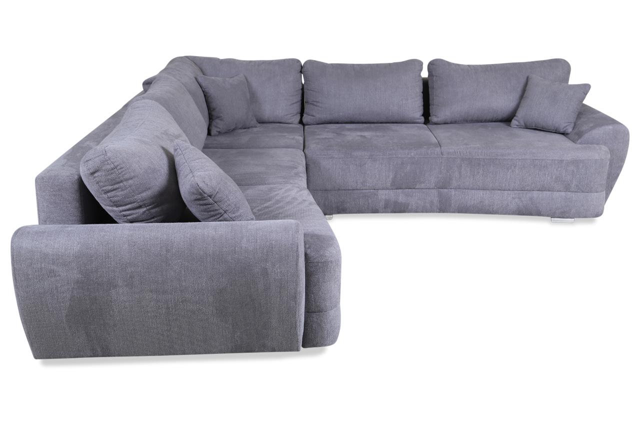 rundecke bosso mit schlaffunktion grau sofas zum halben preis. Black Bedroom Furniture Sets. Home Design Ideas