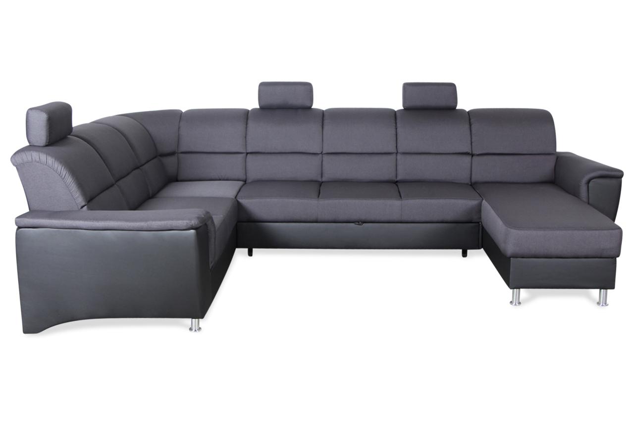 gortex wohnlandschaft milano mit relax und schlaffunktion schwarz sofas zum halben preis. Black Bedroom Furniture Sets. Home Design Ideas