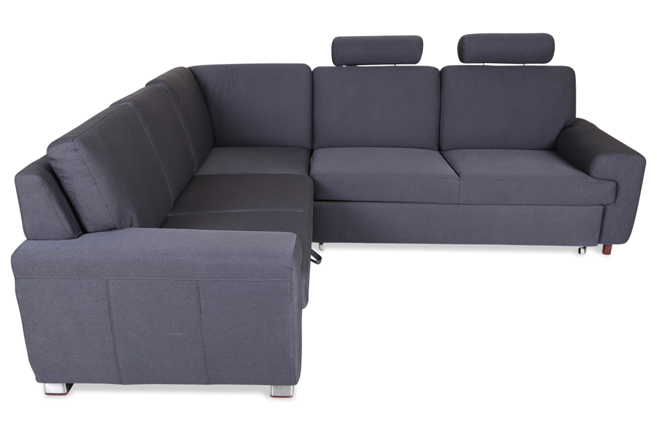 rundecke plaza mit schlaffunktion anthrazit sofas zum halben preis. Black Bedroom Furniture Sets. Home Design Ideas