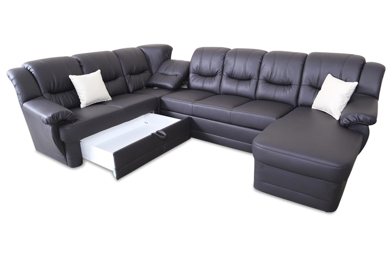 wohnlandschaft orion mit relax und schlaffunktion grau. Black Bedroom Furniture Sets. Home Design Ideas