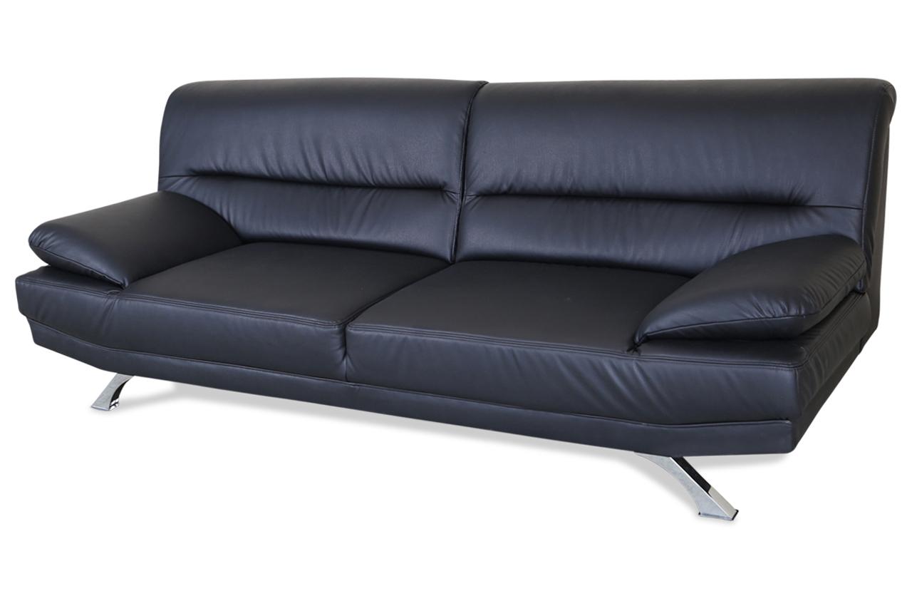 3er sofa bruno schwarz sofa couch ecksofa ebay. Black Bedroom Furniture Sets. Home Design Ideas