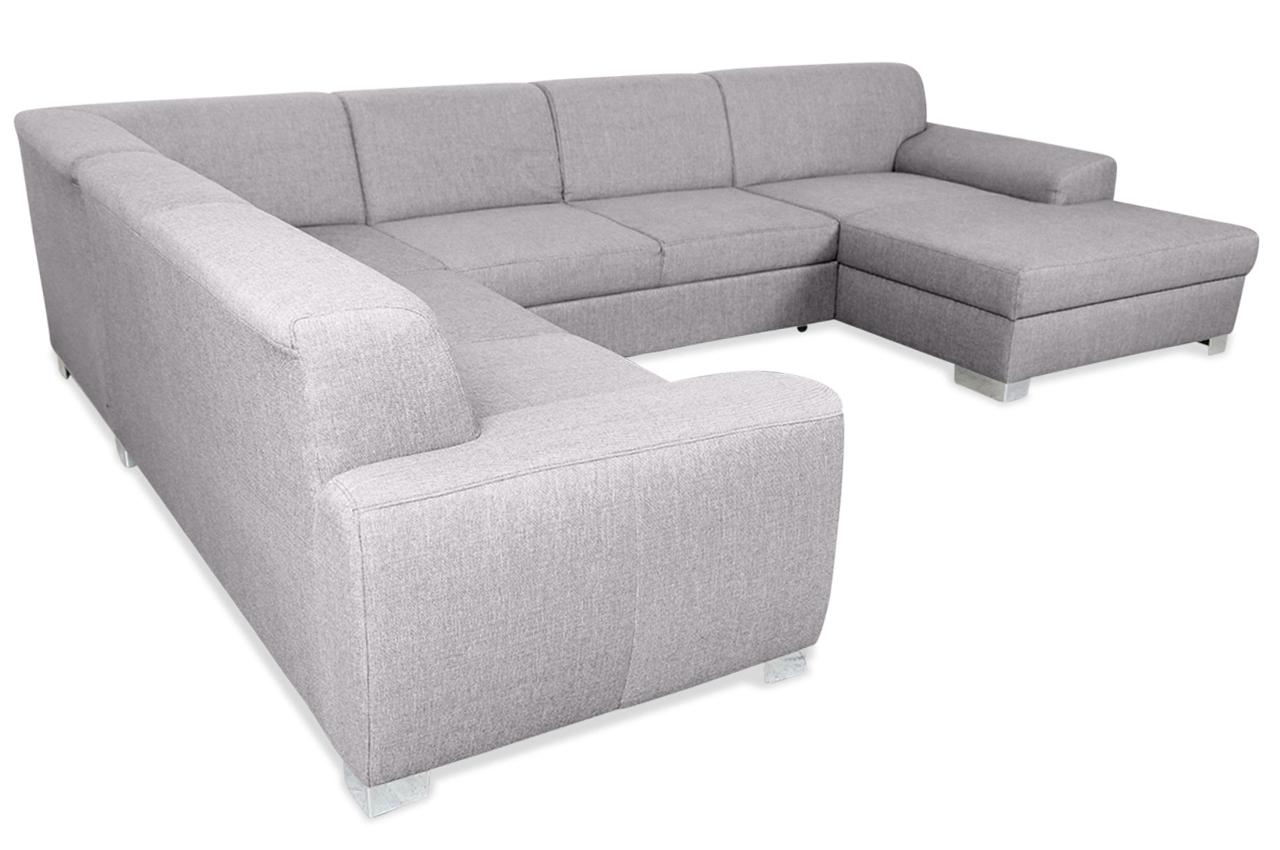 wohnlandschaft ricardo mit schlaffunktion grau sofas. Black Bedroom Furniture Sets. Home Design Ideas