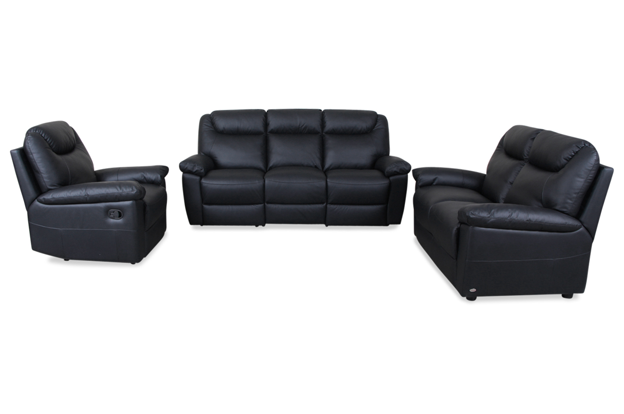 sofa 3 2 1 leder. Black Bedroom Furniture Sets. Home Design Ideas