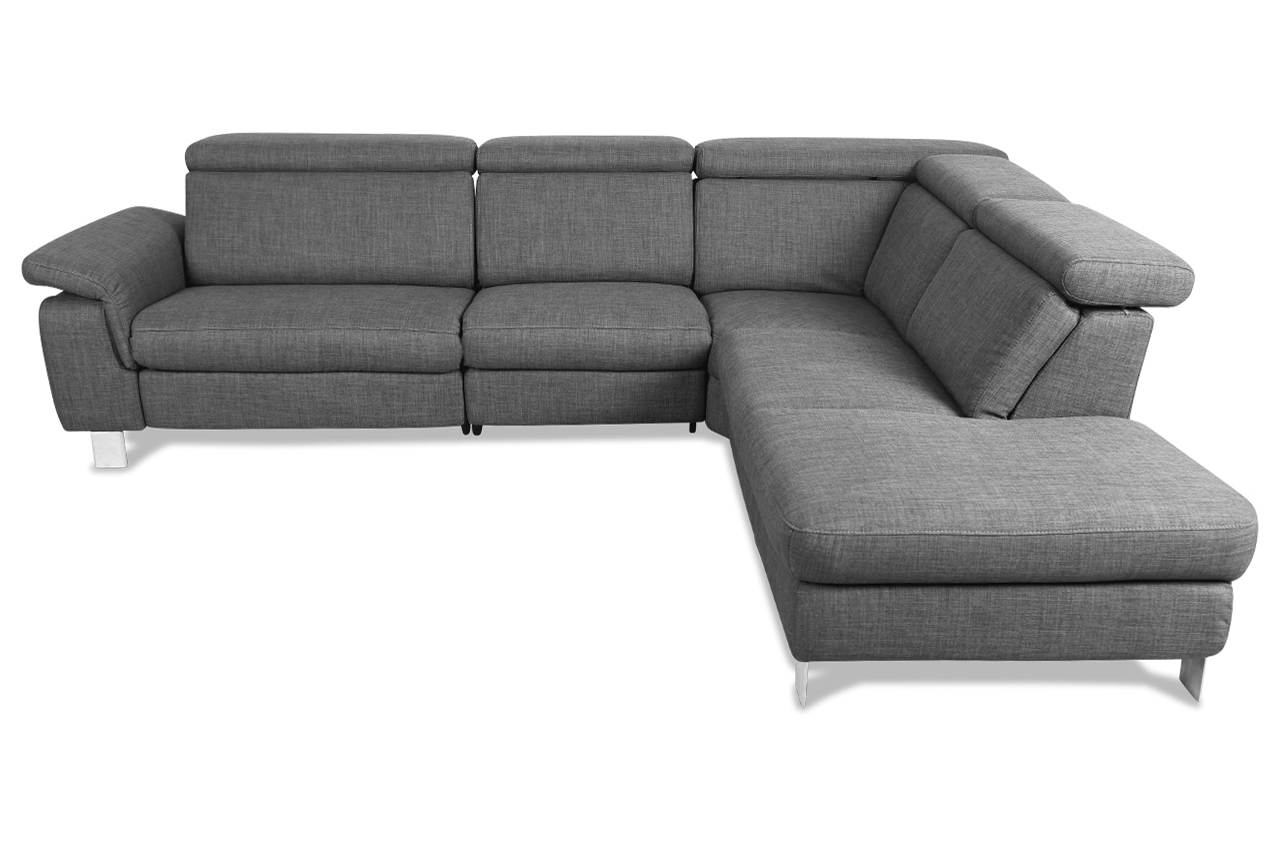 rundecke mit relax grau sofa couch ecksofa ebay. Black Bedroom Furniture Sets. Home Design Ideas