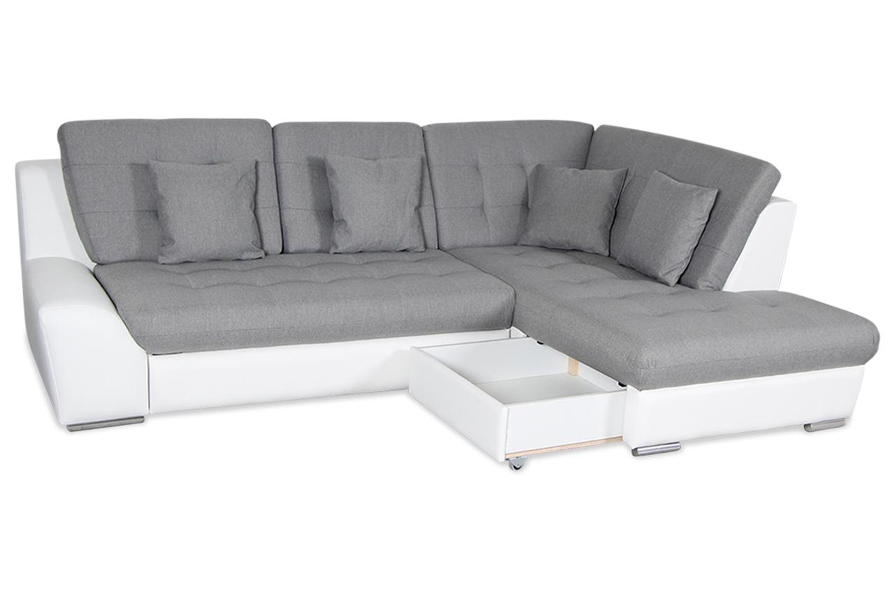 Home group ecksofa xl twin mit schlaffunktion grau mit for Sofa kuscheln