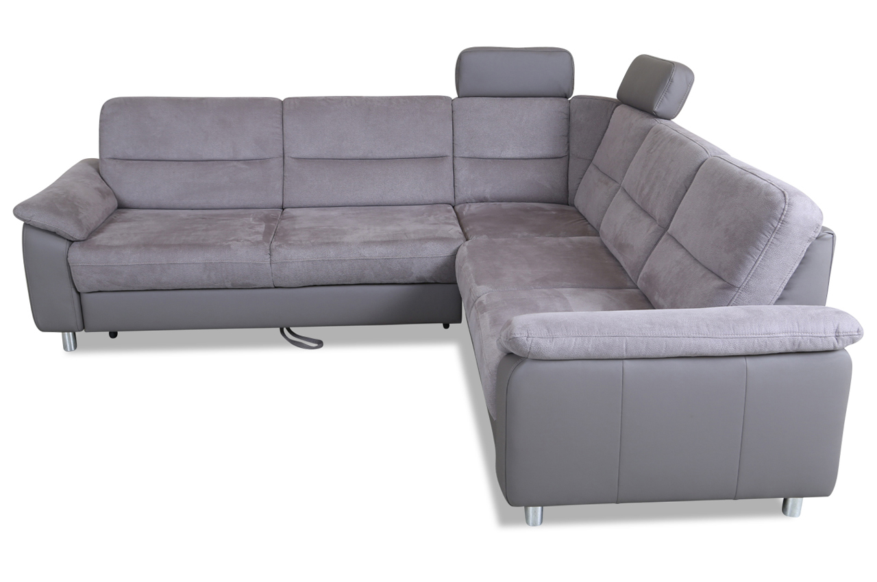 rundecke delano mit schlaffunktion grau sofa couch ecksofa ebay. Black Bedroom Furniture Sets. Home Design Ideas