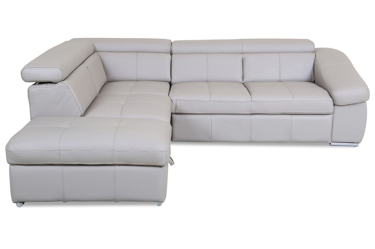 cotta leder ecksofa xl bravo mit schlaffunktion braun sofa couch ecksofa ebay. Black Bedroom Furniture Sets. Home Design Ideas