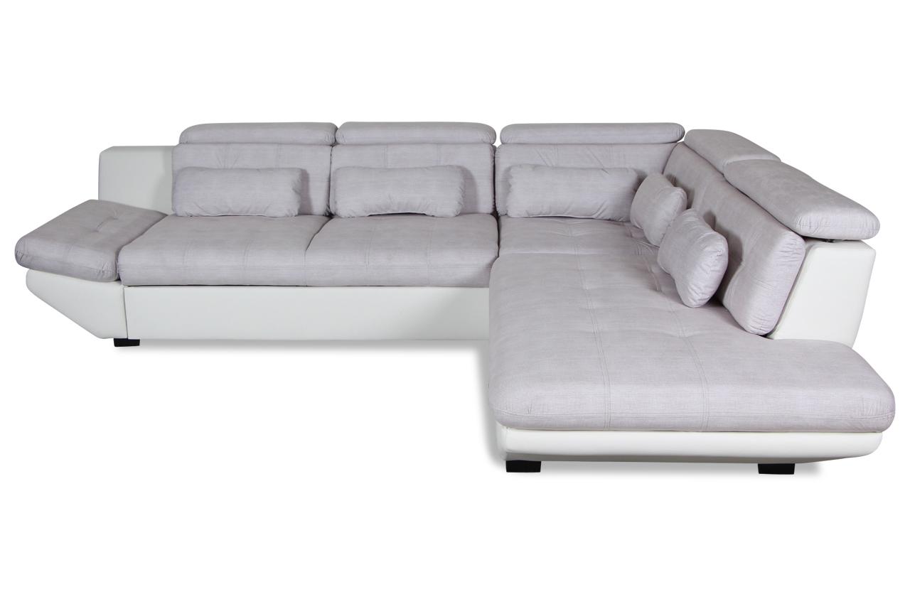 gortex rundecke diego mit schlaffunktion weiss sofa couch ecksofa ebay. Black Bedroom Furniture Sets. Home Design Ideas