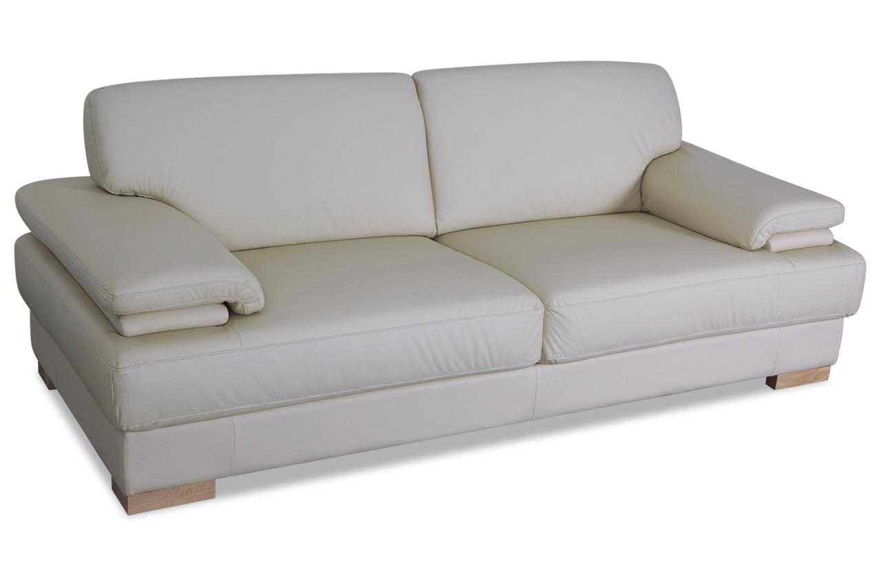 furntrade leder 3er sofa benfica creme sofas zum halben preis. Black Bedroom Furniture Sets. Home Design Ideas