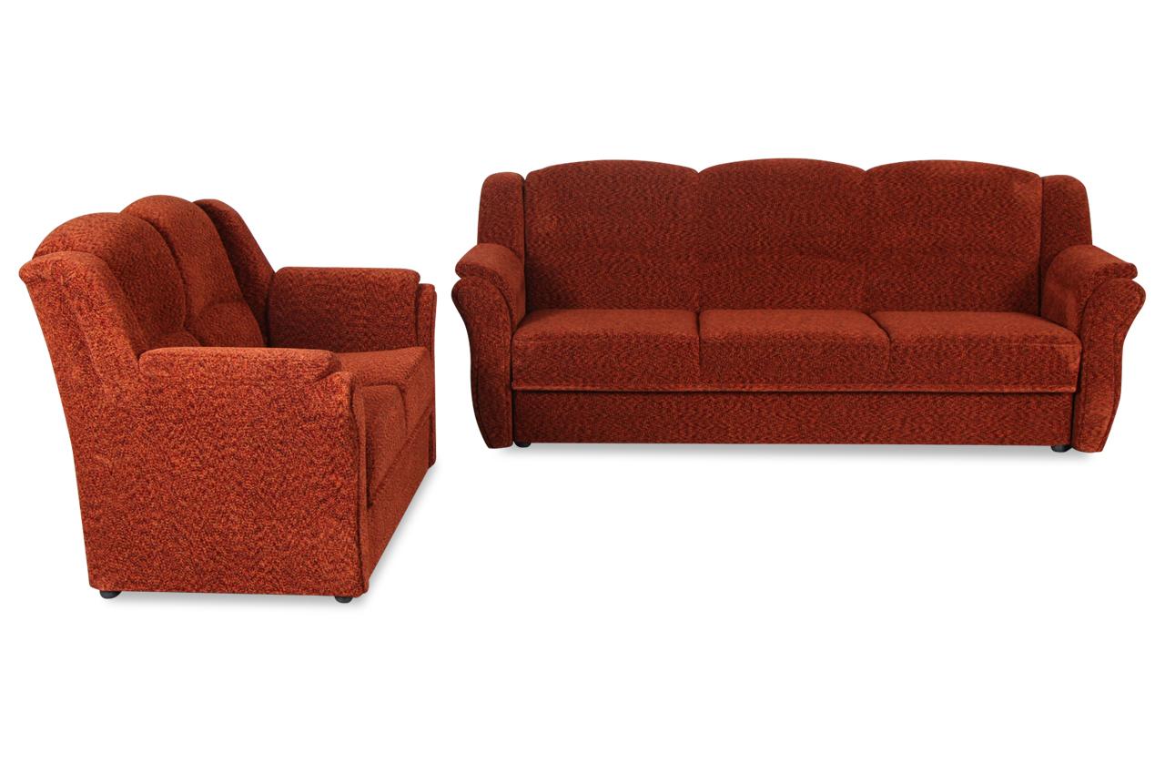 furntrade garnitur 3 2 sara mit schlaffunktion rot sofas zum halben preis. Black Bedroom Furniture Sets. Home Design Ideas