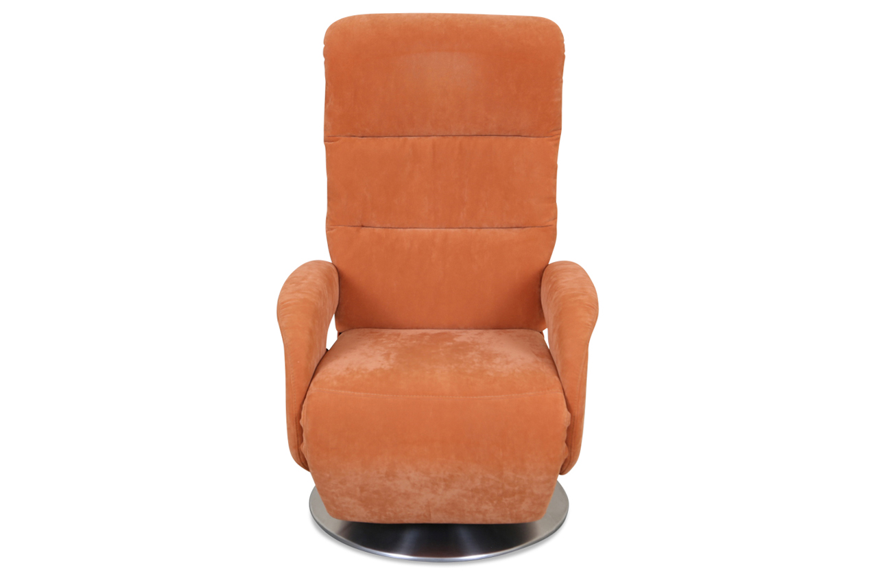 fernsehsessel mit relax orange mit federkern sofas. Black Bedroom Furniture Sets. Home Design Ideas