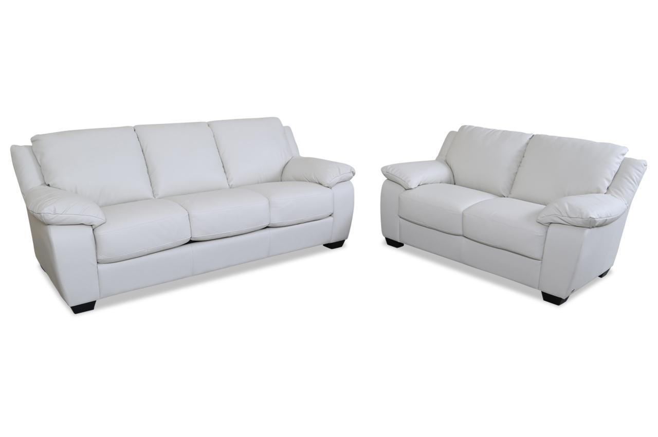 editions leder garnitur 3 2 u092 mit schlaffunktion weiss sofas zum halben preis. Black Bedroom Furniture Sets. Home Design Ideas