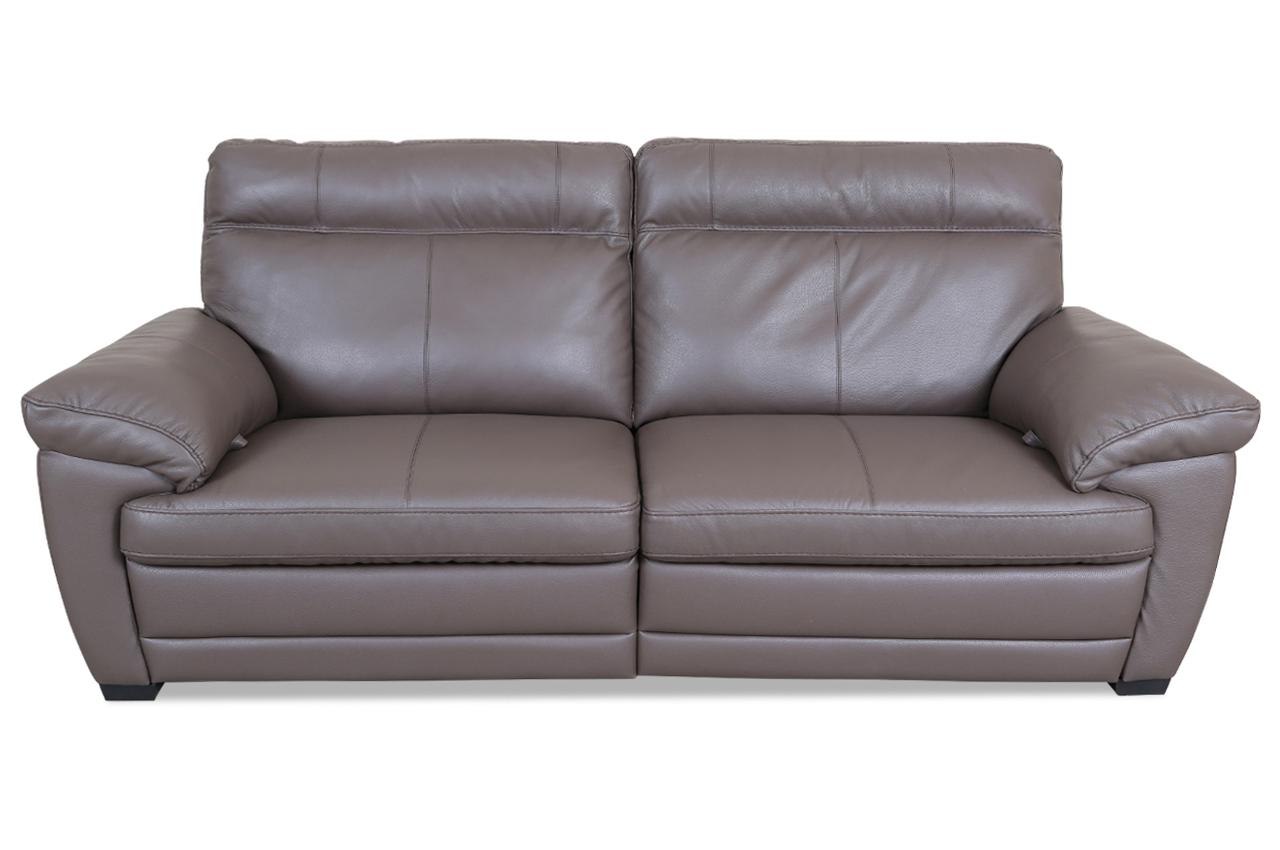 editions leder 2er sofa u074 mit relax braun mit federkern sofas zum halben preis. Black Bedroom Furniture Sets. Home Design Ideas