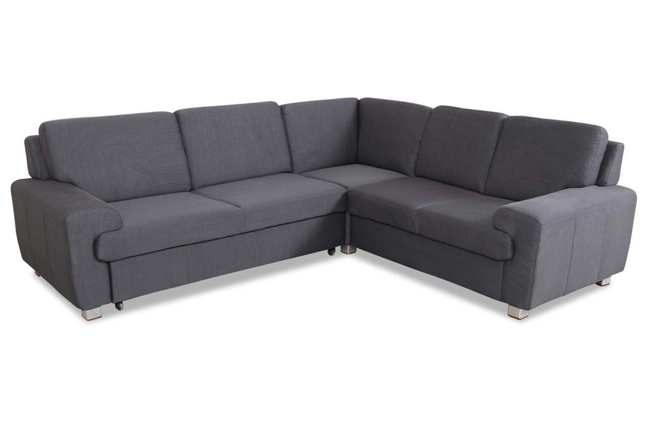 sale rundecke plaza mit schlaffunktion grau sofa couch ecksofa ebay. Black Bedroom Furniture Sets. Home Design Ideas