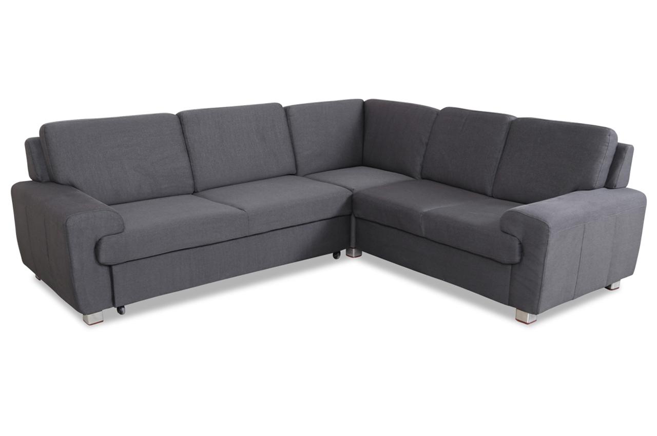 sale rundecke plaza mit schlaffunktion grau sofa couch ecksofa ebay. Black Bedroom Furniture Sets. Home Design Ideas
