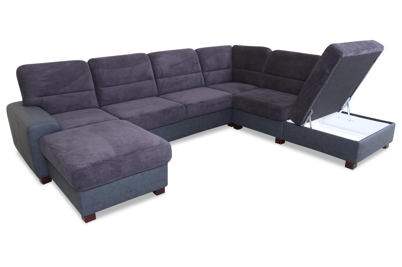 wohnlandschaft malta grau sofas zum halben preis. Black Bedroom Furniture Sets. Home Design Ideas