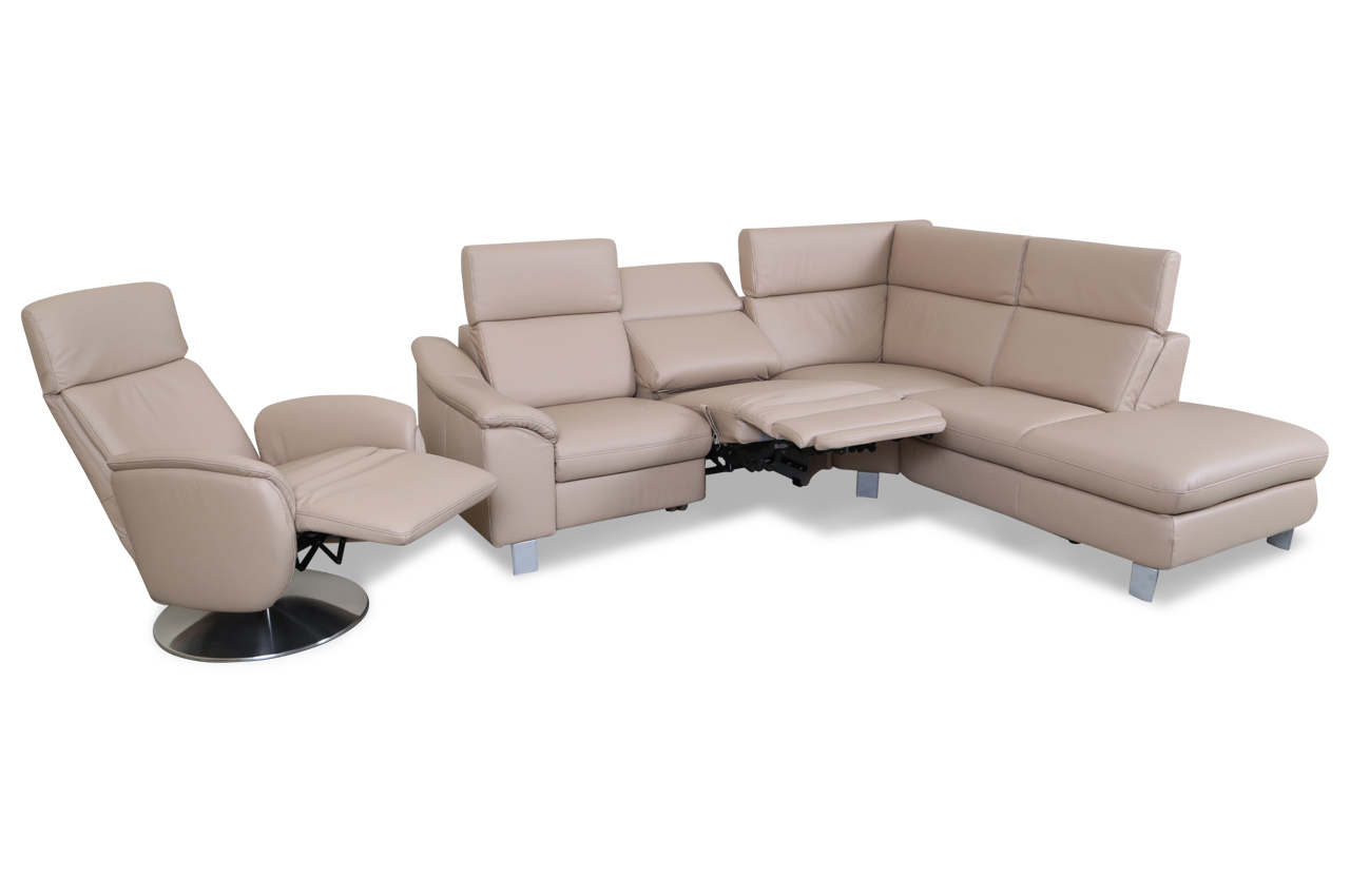 sofa mit relax sessel interior design wave l shape led relax sofa corner couch designer. Black Bedroom Furniture Sets. Home Design Ideas