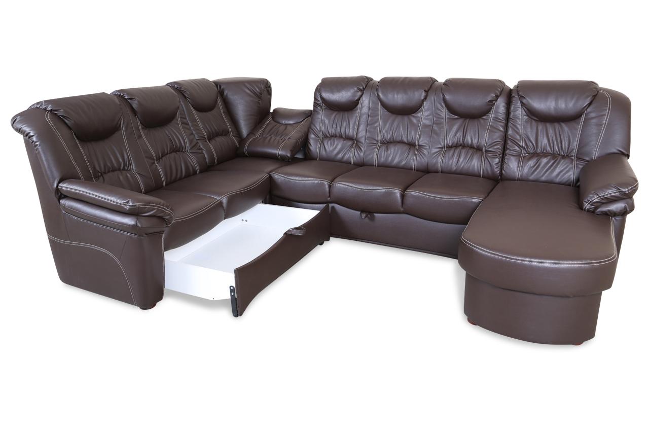 wohnlandschaft rom mit relax und schlaffunktion braun sofas zum halben preis. Black Bedroom Furniture Sets. Home Design Ideas