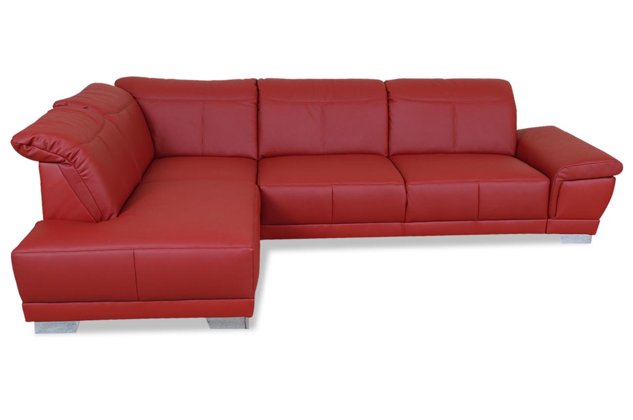 Ada alina leder ecksofa xl 7627 rot sofas zum halben preis for Ecksofa leder rot
