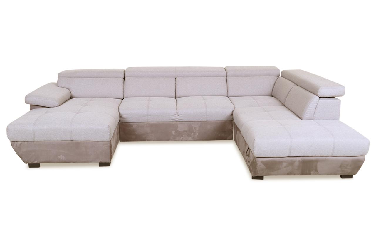 cotta wohnlandschaft speedway mit schlaffunktion grau sofas zum halben preis. Black Bedroom Furniture Sets. Home Design Ideas