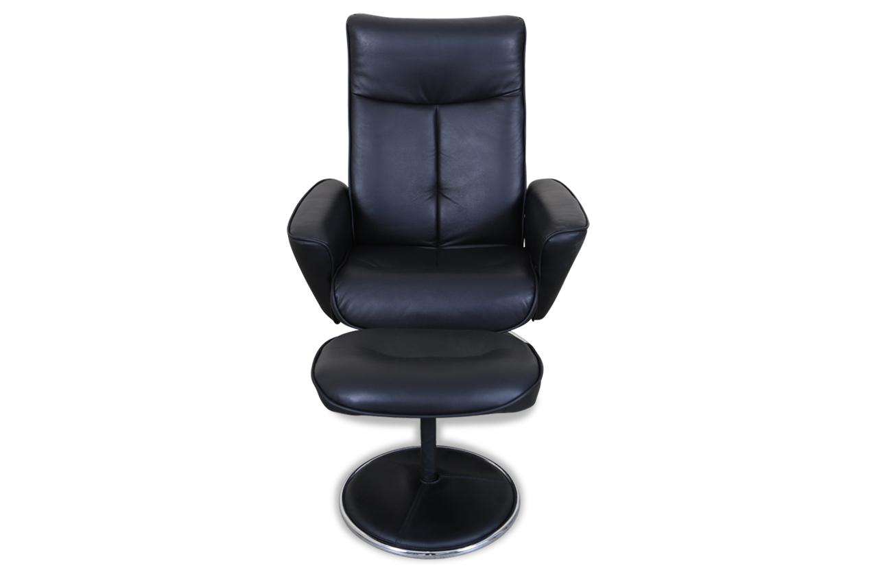 furntrade leder fernsehsessel nika mit hocker schwarz sofas zum halben preis. Black Bedroom Furniture Sets. Home Design Ideas
