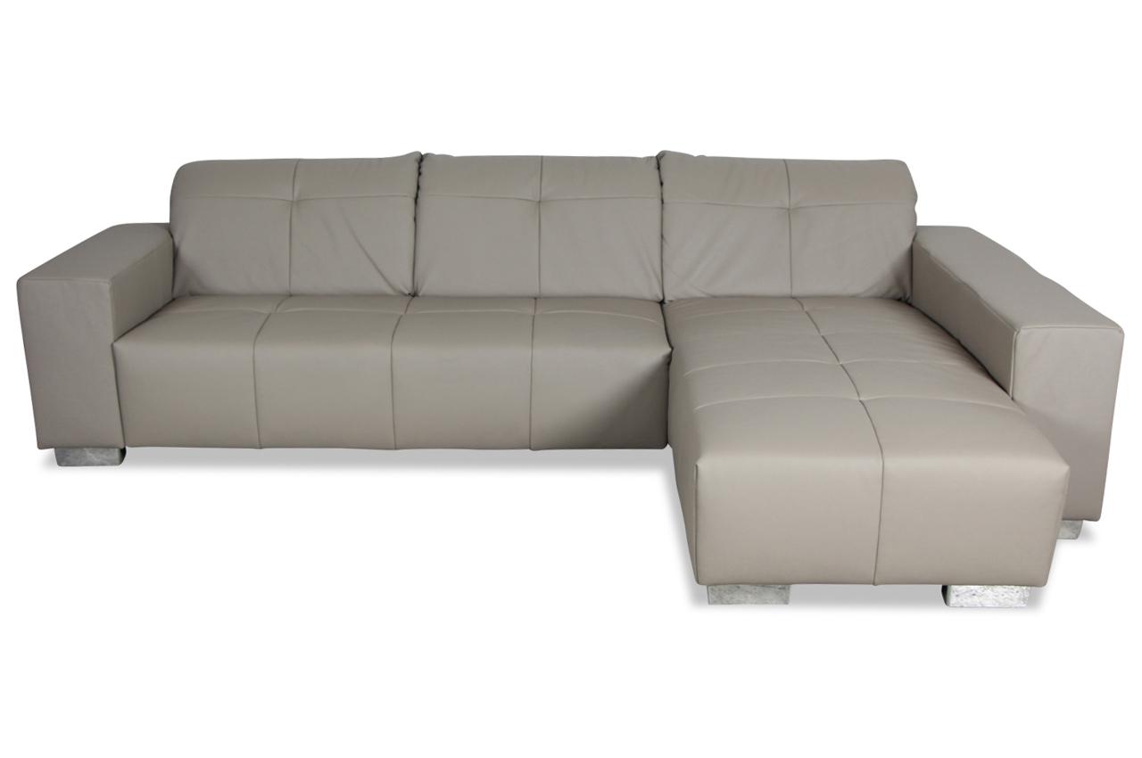 Ada alina leder ecksofa 7602 grau sofas zum halben preis for Leder ecksofa grau