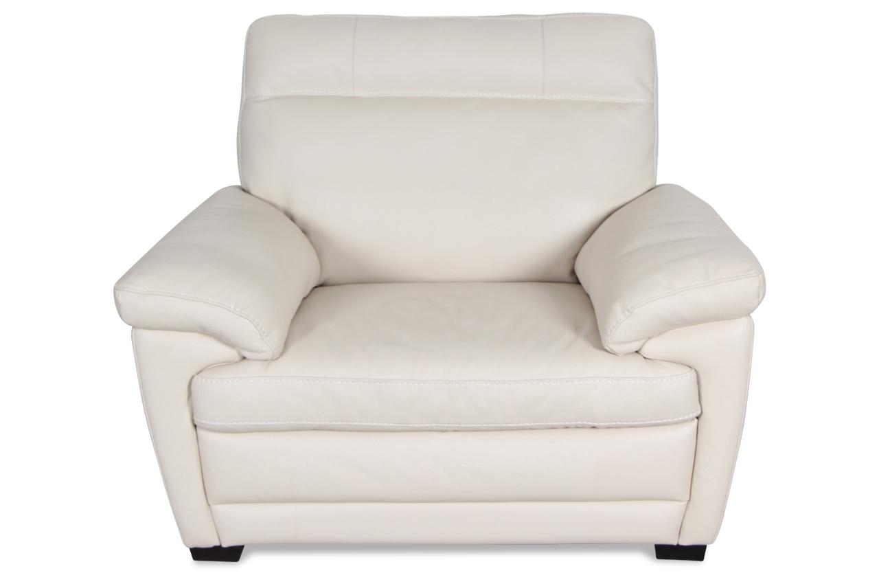 editions leder fernsehsessel u074 creme mit federkern sofas zum halben preis. Black Bedroom Furniture Sets. Home Design Ideas