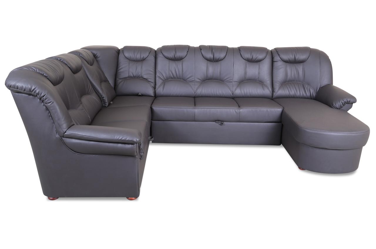 wohnlandschaft linus mit relax und schlaffunktion anthrazit sofas zum halben preis. Black Bedroom Furniture Sets. Home Design Ideas