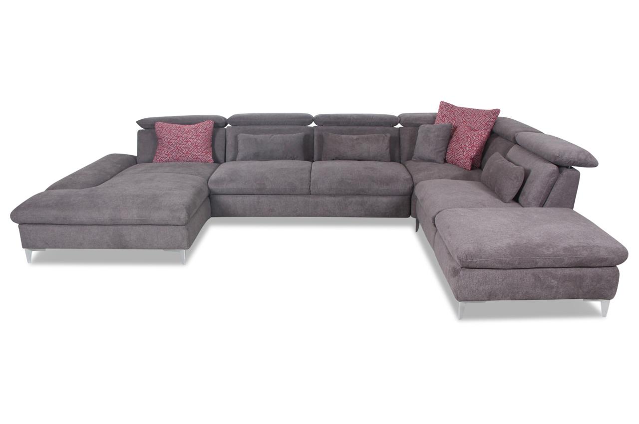 wohnlandschaft mit relax und schlaffunktion braun sofas zum halben preis. Black Bedroom Furniture Sets. Home Design Ideas
