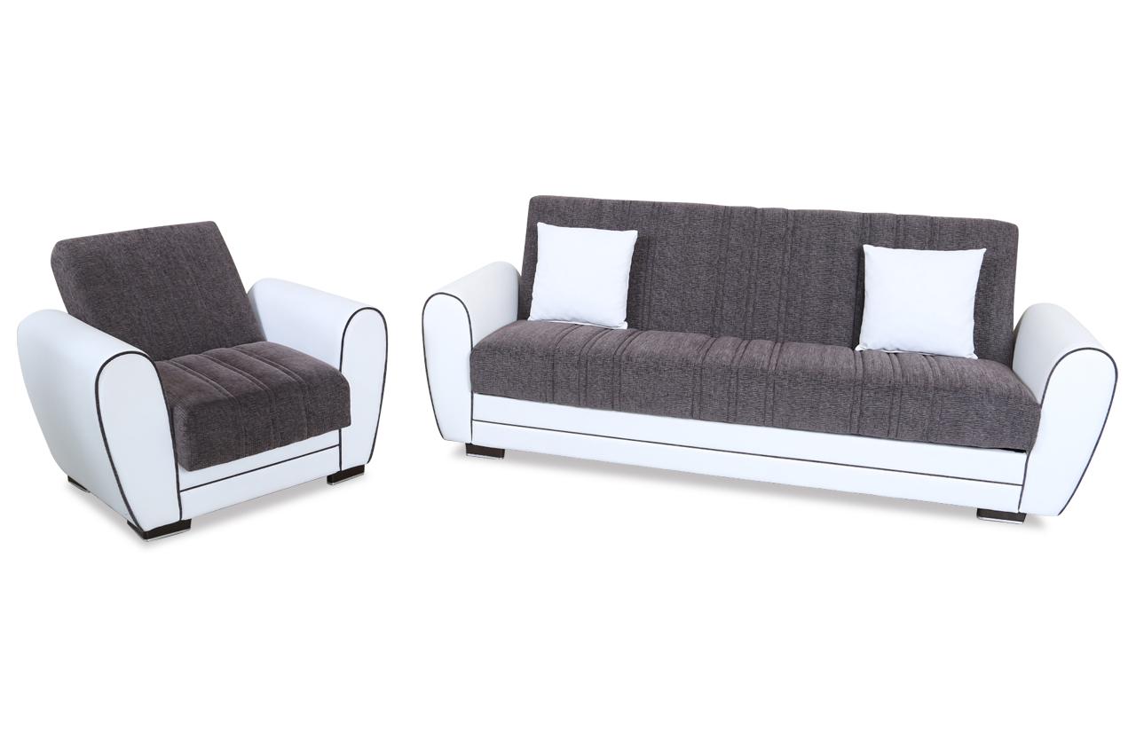seher mobilya garnitur aksaya mit relax und schlaffunktion weiss sofas zum halben preis. Black Bedroom Furniture Sets. Home Design Ideas