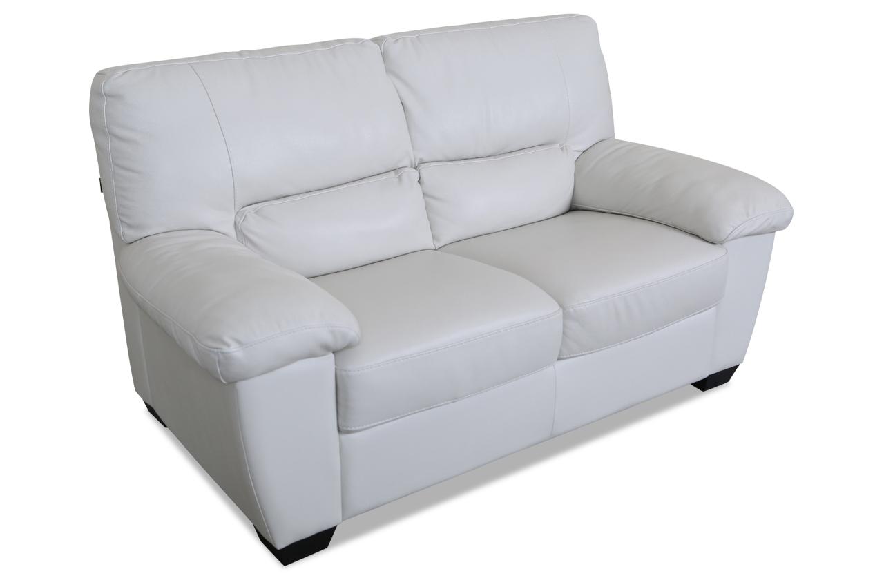 editions leder 2er sofa u172 weiss mit federkern sofas zum halben preis. Black Bedroom Furniture Sets. Home Design Ideas
