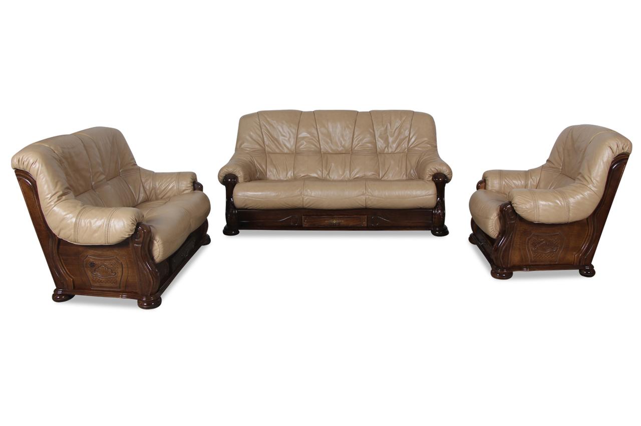 chojmex leder garnitur 3 2 1 michelle braun sofas zum halben preis. Black Bedroom Furniture Sets. Home Design Ideas