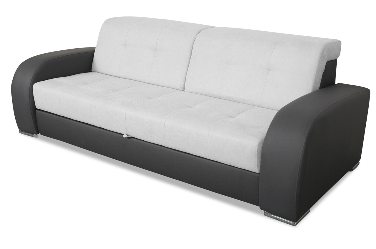 furntrade 3er sofa belagio mit schlaffunktion grau. Black Bedroom Furniture Sets. Home Design Ideas