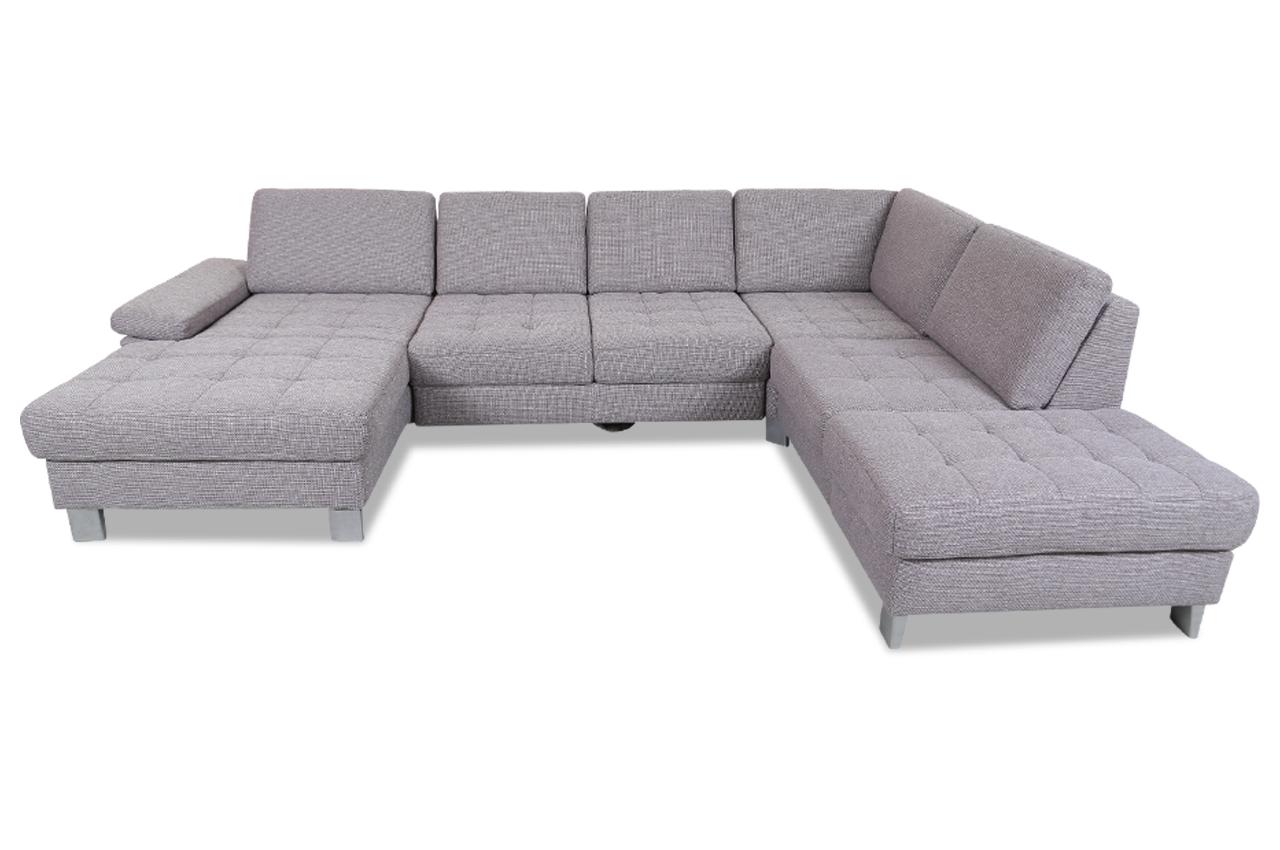 wohnlandschaft mit sitzverstellung und schlaffunktion braun sofas zum halben preis. Black Bedroom Furniture Sets. Home Design Ideas