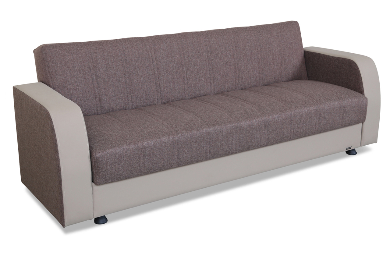 Seher mobilya 3er sofa zahart mit schlaffunktion braun sofas zum halben preis 3er sofa mit schlaffunktion