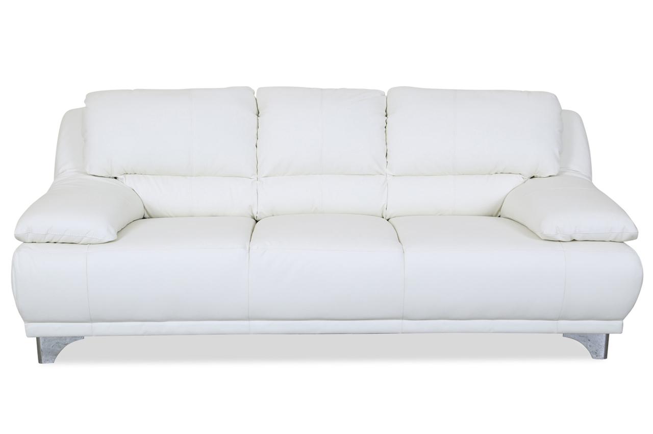 cotta leder 3er sofa maranello weiss sofas zum halben preis. Black Bedroom Furniture Sets. Home Design Ideas