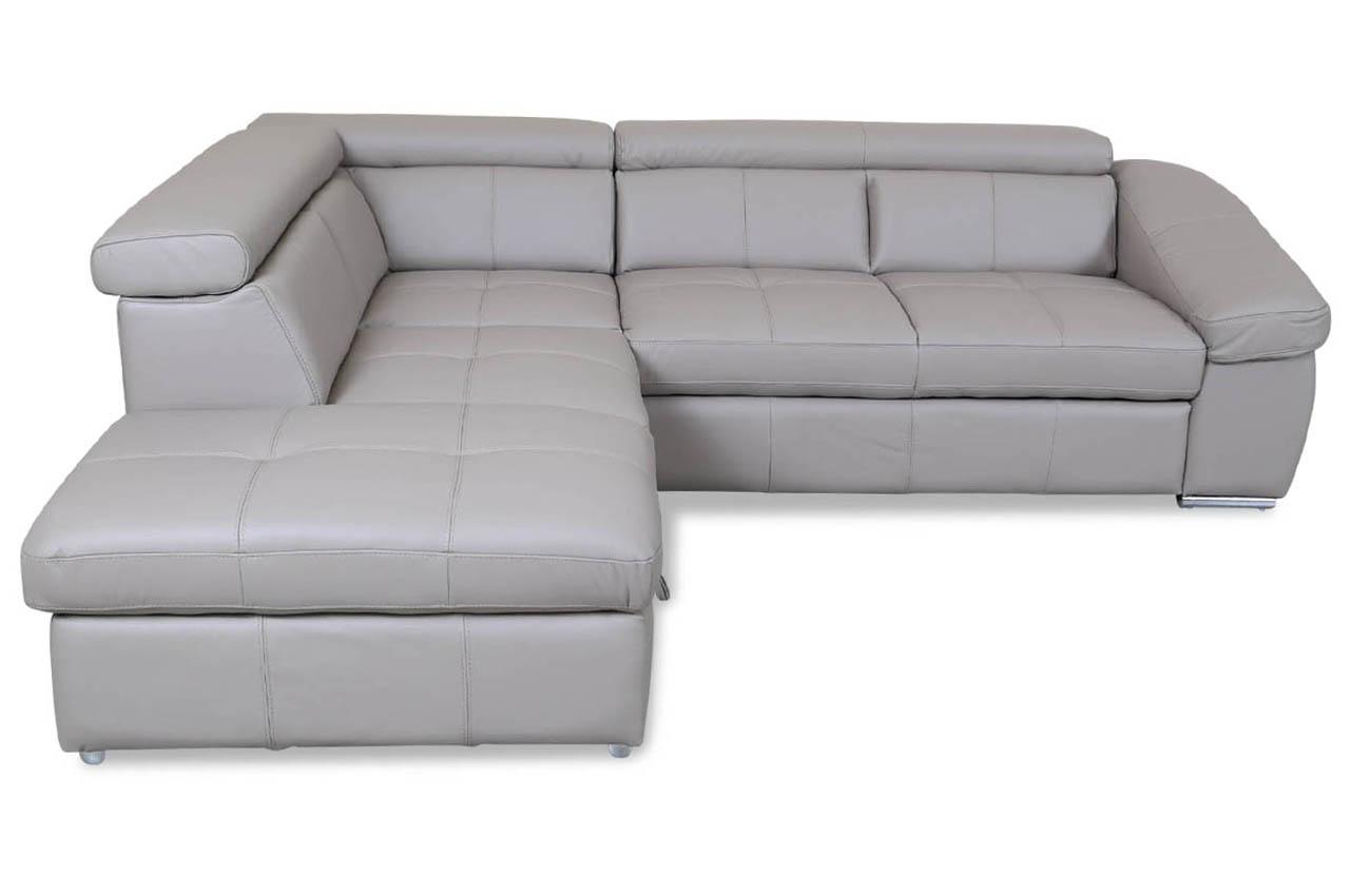 cotta leder ecksofa xl bravo mit schlaffunktion braun. Black Bedroom Furniture Sets. Home Design Ideas