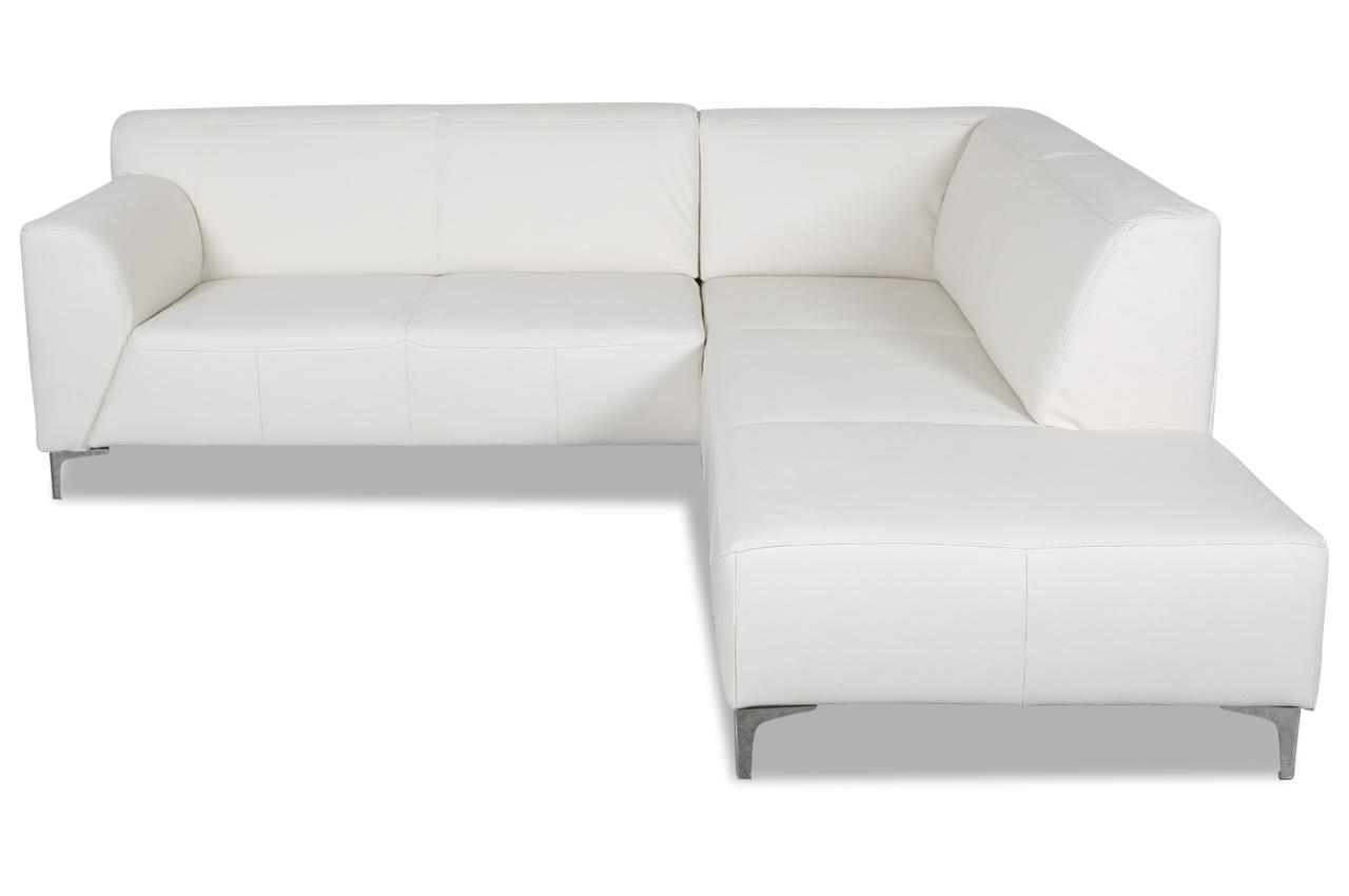 ada alina leder ecksofa xl 7127 mit sitzverstellung weiss sofas zum halben preis. Black Bedroom Furniture Sets. Home Design Ideas