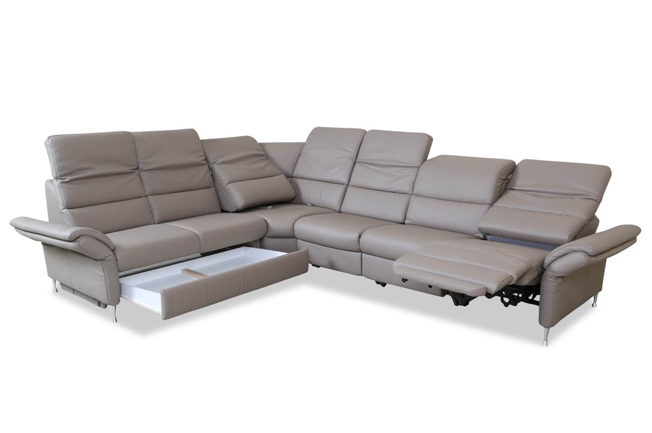 leder rundecke mit relax braun sofas zum halben preis. Black Bedroom Furniture Sets. Home Design Ideas