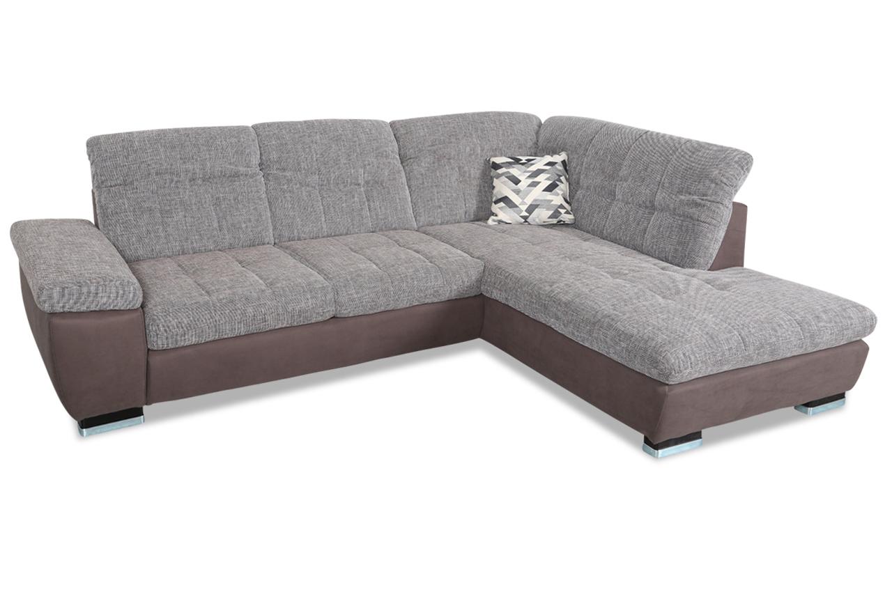 Ada alina ecksofa xl 7695 braun sofas zum halben preis for Wohnlandschaft 7695