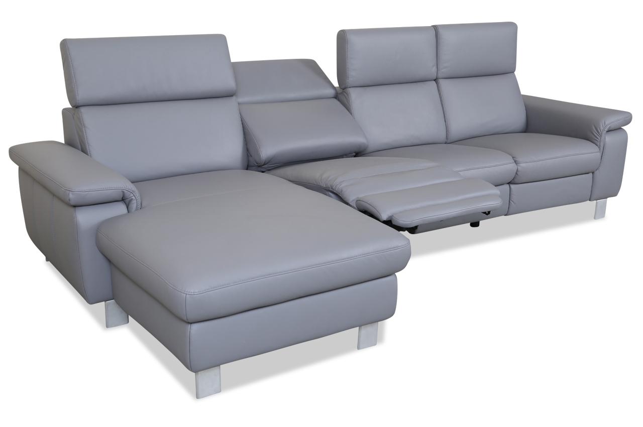 leder ecksofa grau. Black Bedroom Furniture Sets. Home Design Ideas