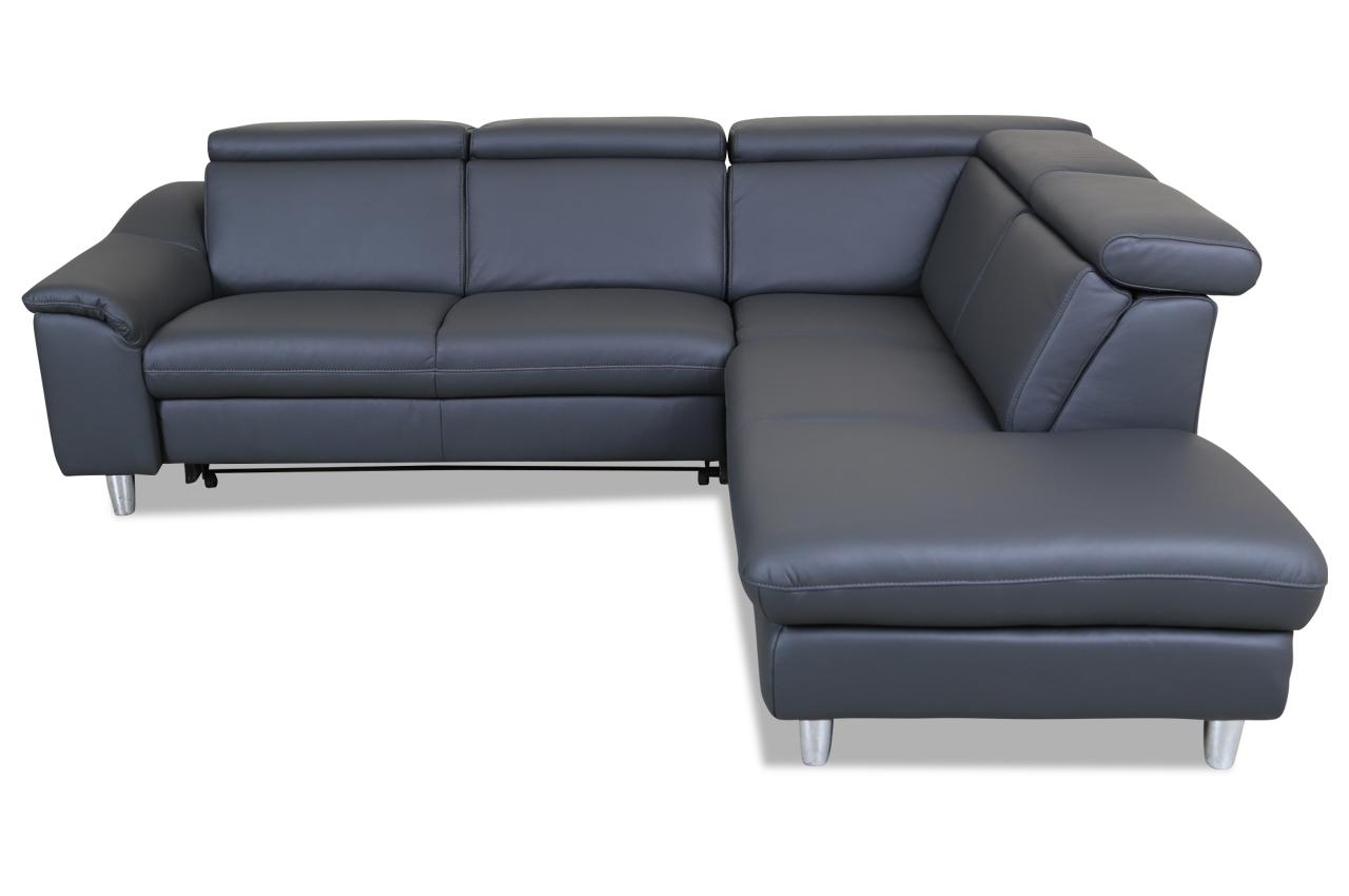 leder rundecke mit schlaffunktion anthrazit sofa couch ecksofa ebay. Black Bedroom Furniture Sets. Home Design Ideas