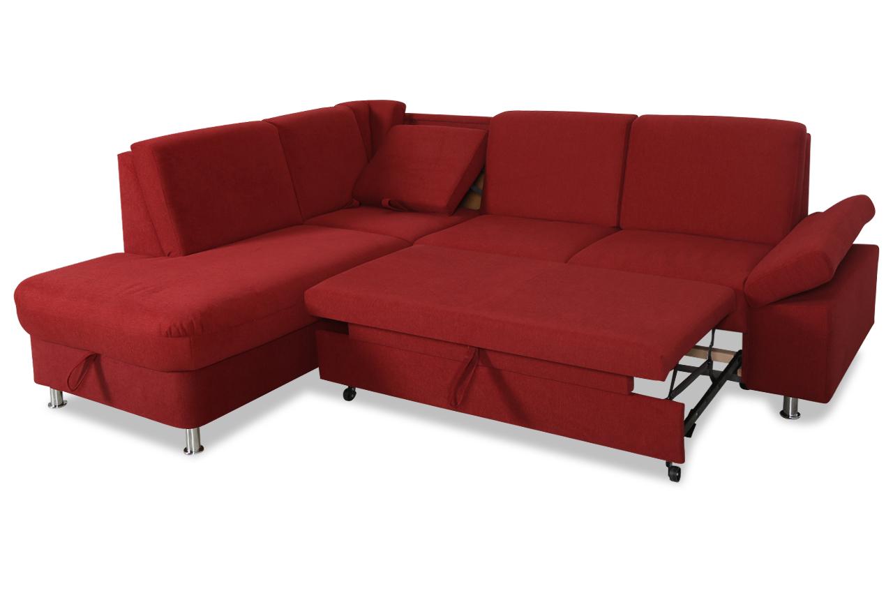 ada alina ecksofa xl 7408 mit hocker mit relax und schlaffunktion rot sofas zum halben preis. Black Bedroom Furniture Sets. Home Design Ideas