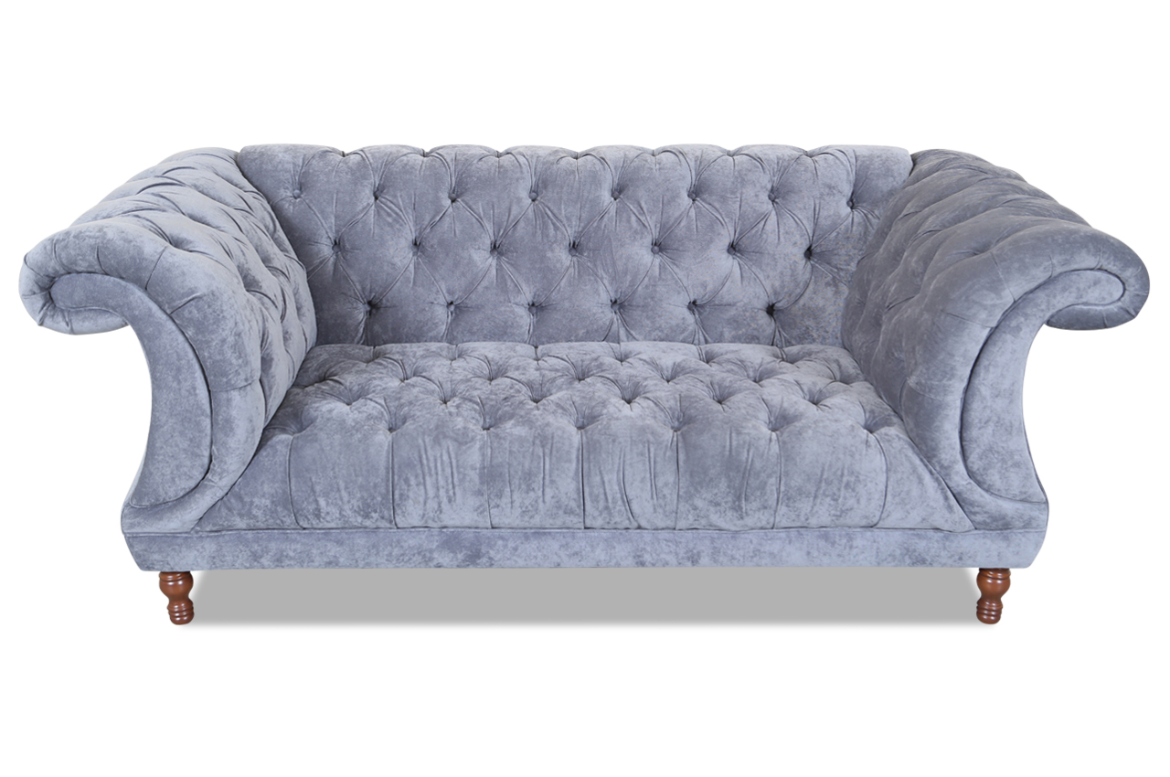 2er sofa grau chesterfield sofa grau chesterfield sofa in for Ecksofa isabell