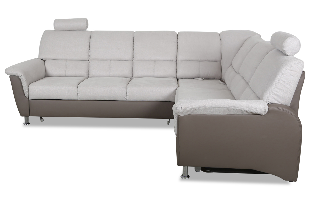 rundecke pisa mit relax und schlaffunktion grau sofa couch ecksofa ebay. Black Bedroom Furniture Sets. Home Design Ideas