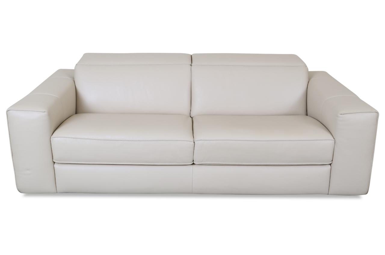 editions leder 3er sofa 2761 creme sofas zum halben preis. Black Bedroom Furniture Sets. Home Design Ideas