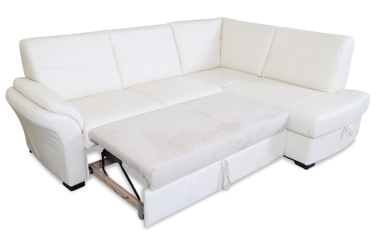 cotta leder ecksofa xl milo mit schlaffunktion creme sofas zum halben preis. Black Bedroom Furniture Sets. Home Design Ideas