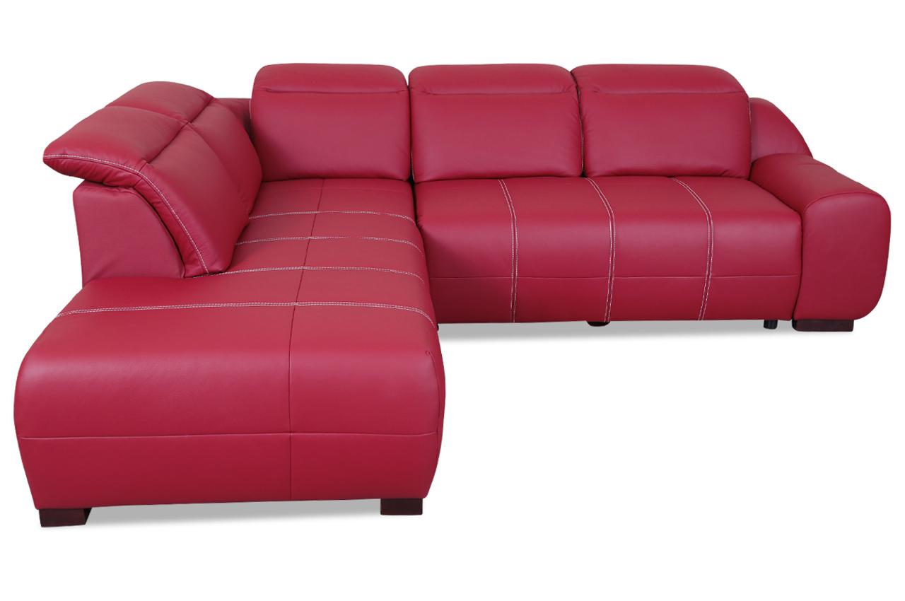leder ecksofa xl mit schlaffunktion rot sofas zum. Black Bedroom Furniture Sets. Home Design Ideas