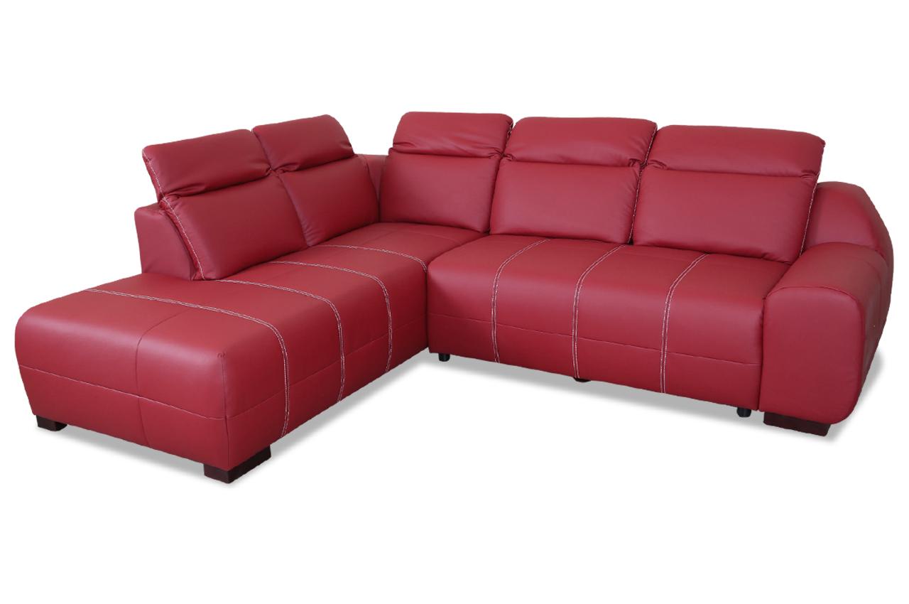 Leder ecksofa xl mit schlaffunktion rot sofas zum for Ecksofa 2 00