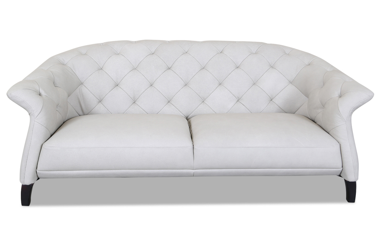 htl international leder 2er sofa creme sofas zum halben preis. Black Bedroom Furniture Sets. Home Design Ideas